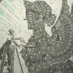 【仰天!】1ドル紙幣を切り貼りして出来た絵画が芸術の域ヽ('∀')ノ