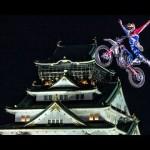 【危険すぎ!】大阪城に舞う命知らずのバイクパフォーマンスが・・・アワ((゚゚дд゚゚ ))ワ