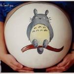 【ボディペイント】妊婦のお腹に描かれた愛情いっぱいのペイントに感動(≧ω≦)