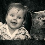 【飼い主クリソツ?】人間のポートレート画像に猫を顔をはめ込んだ面白ポートレート♪