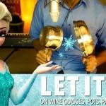 """【大人気!アナと雪の女王動画】""""Let It Go""""をキッチン用品で奏でてみた♪"""